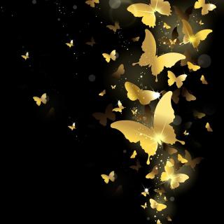 Golden Butterflies - Obrázkek zdarma pro 208x208