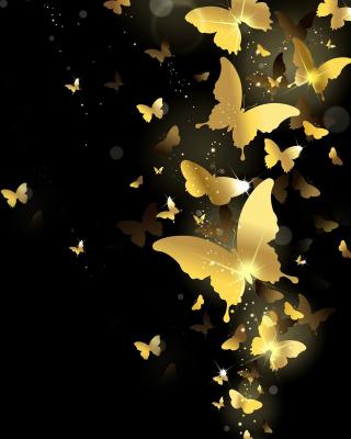 Golden Butterflies - Obrázkek zdarma pro Nokia Asha 202