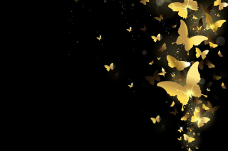 Golden Butterflies Wallpaper for Android, iPhone and iPad