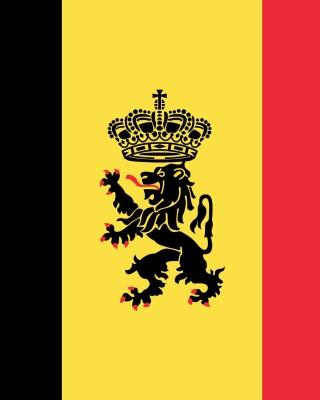 Belgium Flag and Gerb - Obrázkek zdarma pro 640x960