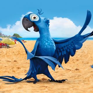 Rio Character Blu - Obrázkek zdarma pro iPad