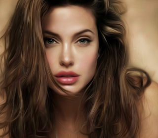 Angelina Jolie Art - Obrázkek zdarma pro 208x208