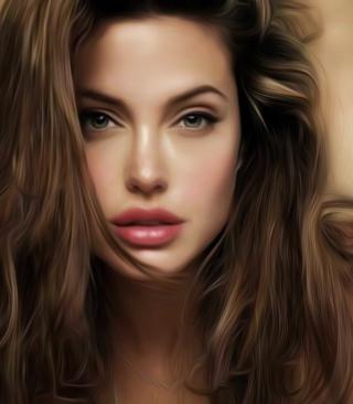 Angelina Jolie Art - Obrázkek zdarma pro 320x480