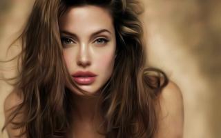 Angelina Jolie Art - Obrázkek zdarma pro Nokia Asha 302