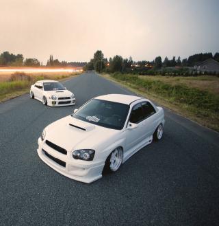 White Subaru Impreza - Obrázkek zdarma pro 320x320