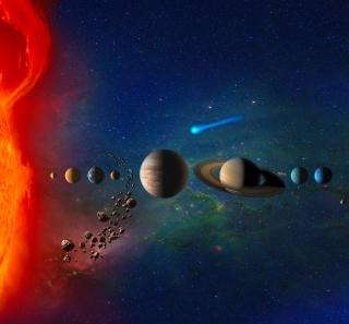 Solar System - Obrázkek zdarma pro iPad