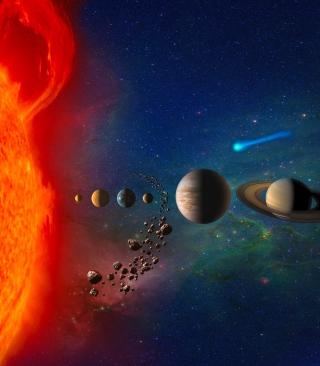 Solar System - Obrázkek zdarma pro Nokia Asha 303