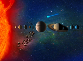Solar System Background for Android, iPhone and iPad