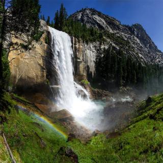 Vernal Fall in Nevada National Park - Obrázkek zdarma pro 128x128