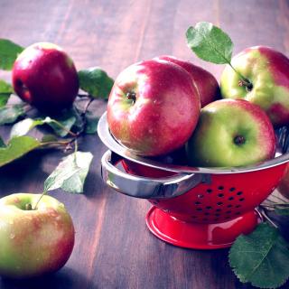 Autumn apple harvest - Obrázkek zdarma pro 128x128