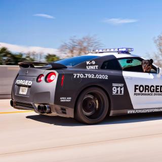 Police Nissan GT-R - Obrázkek zdarma pro iPad 2