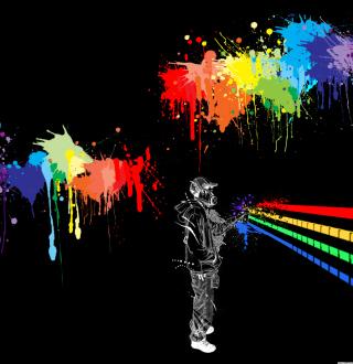 Spray Painting Graffiti - Obrázkek zdarma pro iPad