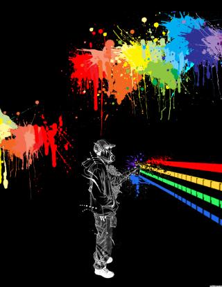 Spray Painting Graffiti - Obrázkek zdarma pro Nokia Lumia 810