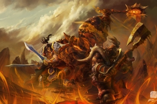 World of Warcraft Battle - Obrázkek zdarma pro Desktop Netbook 1366x768 HD