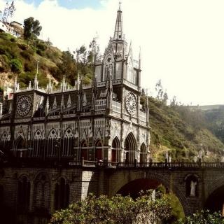 Las Lajas Sanctuary Church Colombia - Obrázkek zdarma pro iPad 2