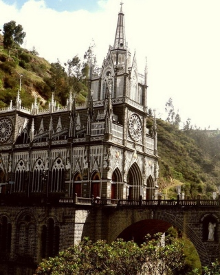 Las Lajas Sanctuary Church Colombia - Obrázkek zdarma pro iPhone 6 Plus