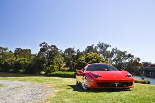 Red Ferrari - Obrázkek zdarma pro 1024x768