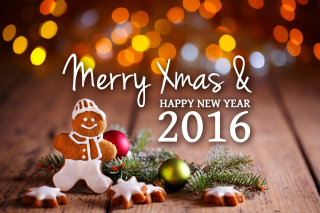 Happy New Year 2016 Clipart Background for Android, iPhone and iPad
