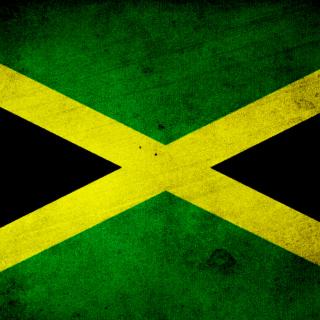 Jamaica Flag Grunge - Obrázkek zdarma pro 1024x1024