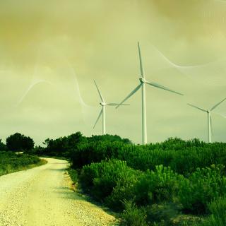 Wind turbine - Obrázkek zdarma pro 1024x1024