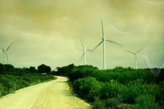 Wind turbine Wallpaper for Android, iPhone and iPad