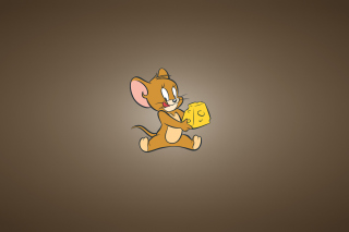 Tom And Jerry Mouse With Cheese - Obrázkek zdarma pro 220x176