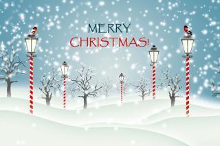 Christmas Park with Snow - Obrázkek zdarma pro Desktop Netbook 1024x600