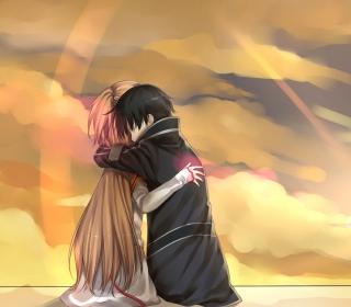 Anime Hug - Obrázkek zdarma pro 208x208