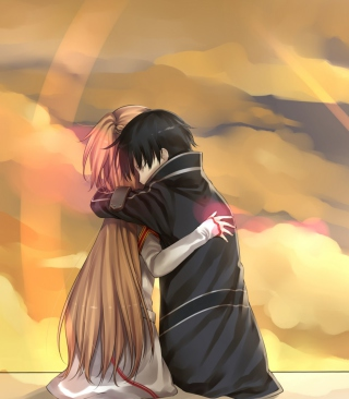 Anime Hug - Obrázkek zdarma pro Nokia C2-02