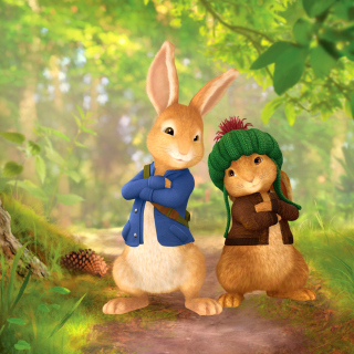 Peter Rabbit with Flopsy - Obrázkek zdarma pro 208x208
