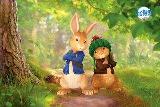 Peter Rabbit with Flopsy - Obrázkek zdarma pro Nokia Asha 200