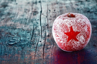 Free Christmas Star Frozen Apple Picture for Android, iPhone and iPad
