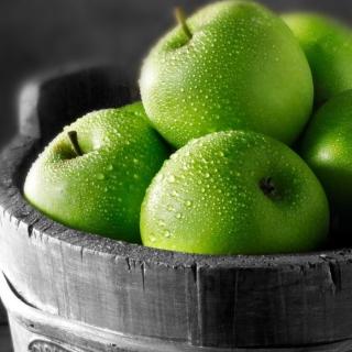 Green Apples - Obrázkek zdarma pro 208x208