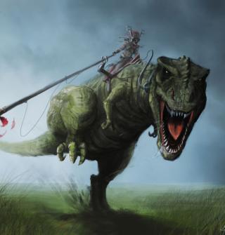Angry Dinosaur - Obrázkek zdarma pro 1024x1024