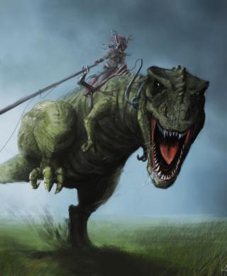 Angry Dinosaur - Obrázkek zdarma pro Nokia X1-00