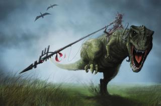 Angry Dinosaur - Obrázkek zdarma pro Samsung Galaxy S6 Active