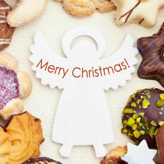 Merry Christmas Angel - Obrázkek zdarma pro iPad 2