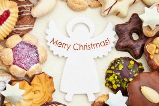 Merry Christmas Angel - Obrázkek zdarma pro Fullscreen Desktop 1400x1050