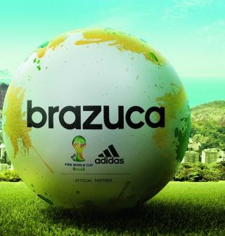 Adidas Brazuca Match Ball FIFA World Cup 2014 - Obrázkek zdarma pro iPad mini