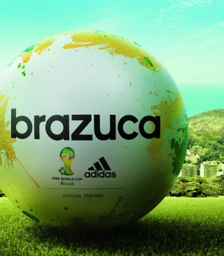 Adidas Brazuca Match Ball FIFA World Cup 2014 - Obrázkek zdarma pro Nokia Asha 306