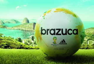 Adidas Brazuca Match Ball FIFA World Cup 2014 - Obrázkek zdarma pro Widescreen Desktop PC 1920x1080 Full HD