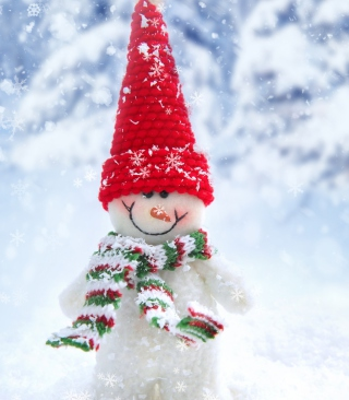 Cute Snowman Red Hat - Obrázkek zdarma pro iPhone 5