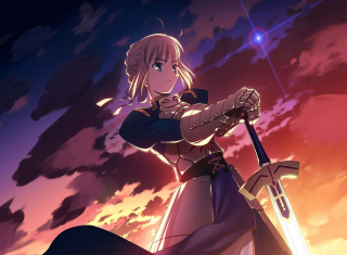 Saber from Fate/stay night - Fondos de pantalla gratis para Nokia Asha 201