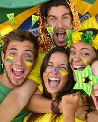 Brazil FIFA Football Fans - Obrázkek zdarma pro Nokia X2