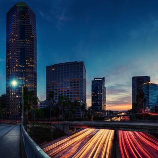 Los Angeles Panorama - Obrázkek zdarma pro 1024x1024