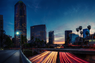 Los Angeles Panorama Background for Android, iPhone and iPad