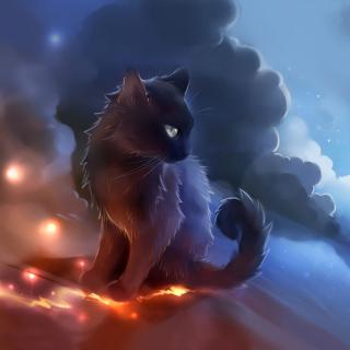Kitten in Clouds - Obrázkek zdarma pro 1024x1024