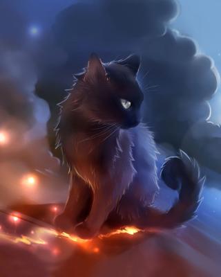 Kitten in Clouds - Obrázkek zdarma pro 128x160
