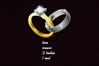Love Rings - Obrázkek zdarma pro Samsung Galaxy Tab 3 8.0