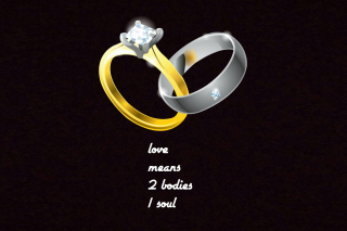 Love Rings - Obrázkek zdarma pro 1152x864